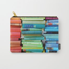 Rainbow Stacks of Vintage Books Carry-All Pouch