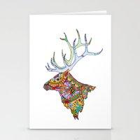elk Stationery Cards featuring Elk  by kristinasheufelt