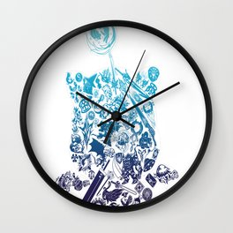Final Fantasy Moogle-verse (blue) Wall Clock