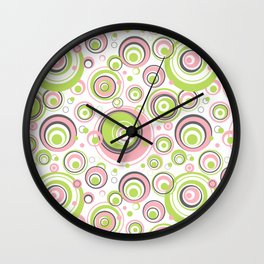 Scrambled Circles Wall Clock
