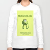monsters inc Long Sleeve T-shirts featuring Monsters, Inc by FunnyFaceArt