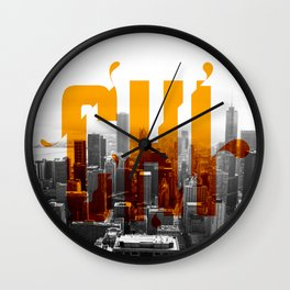 Rep your City: Chi Town Wall Clock