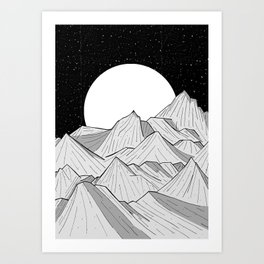 Big moon mounts Art Print