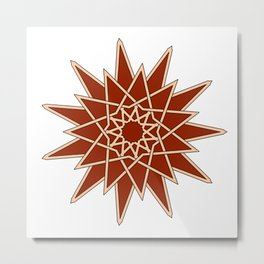 arabesque star Metal Print