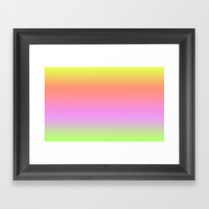 Sunset Gradient Yellow Orange Pink Framed Art Print