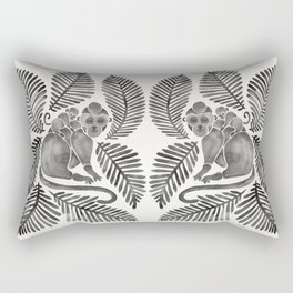 Monkey Cuddles – Black Palette Rectangular Pillow