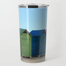 Colorful beach cabinets Travel Mug