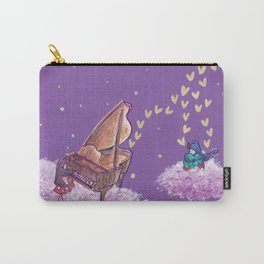 Penguins Make Music With Piano and Guitar in The Night Sky Carry-All Pouch