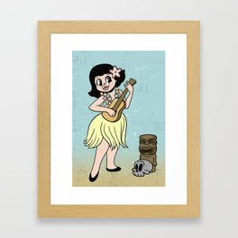 Tiki Girl Framed Art Print