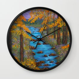 River of Change Wall Clock