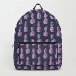 Pineapples - Dark Blue & Purple #600 Backpack
