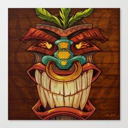 Tiki Head Style 1 Canvas Print