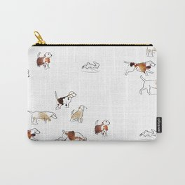 Beagles hunting Carry-All Pouch