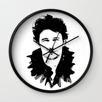 james franco Wall Clocks featuring james franco by looseleaf