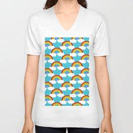Dreamy Rainbow Pattern Unisex V-Neck