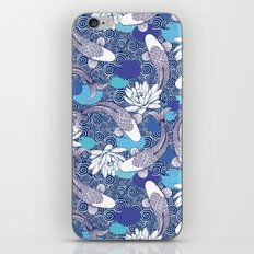 Blue Koi Ripples iPhone Skin