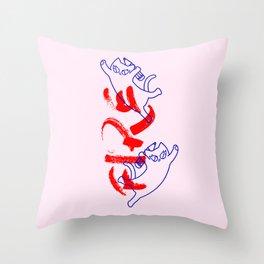 fire flying cat Throw Pillow