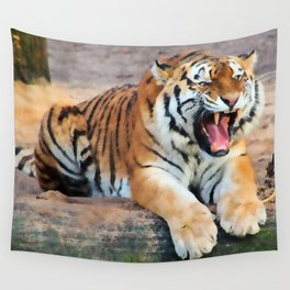 Roaring Tiger Wall Tapestry