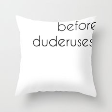 uteruses before duderuses, leslie knope- parks and recreation  Throw Pillow