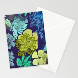 Shadow ornate floral Stationery Cards