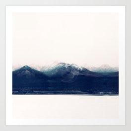 the blue mountain Art Print