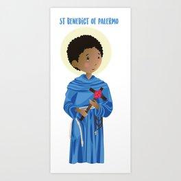 St.Benedict of Palermo Art Print