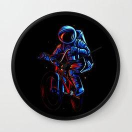 Dirt Bike Astronaut Wall Clock