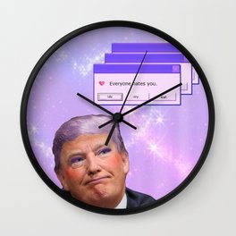 Kawaii Trump - Everyone Hates Me Wall Clock