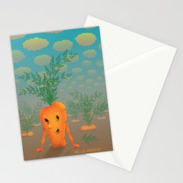 runaway carrot Stationery Cards