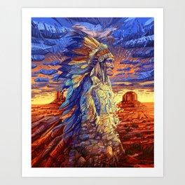 native american colorful portrait Kunstdrucke
