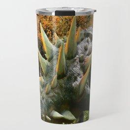 Ankylosaurus Dinosaur Park Vegetation and  Volcano Travel Mug