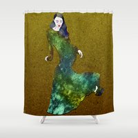 dress Shower Curtains featuring Favorite Dress by Stevyn Llewellyn