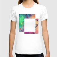 decal T-shirts featuring Space Decal by artii