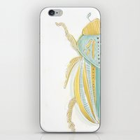 beetle iPhone & iPod Skins featuring Beetle by Very Sarie