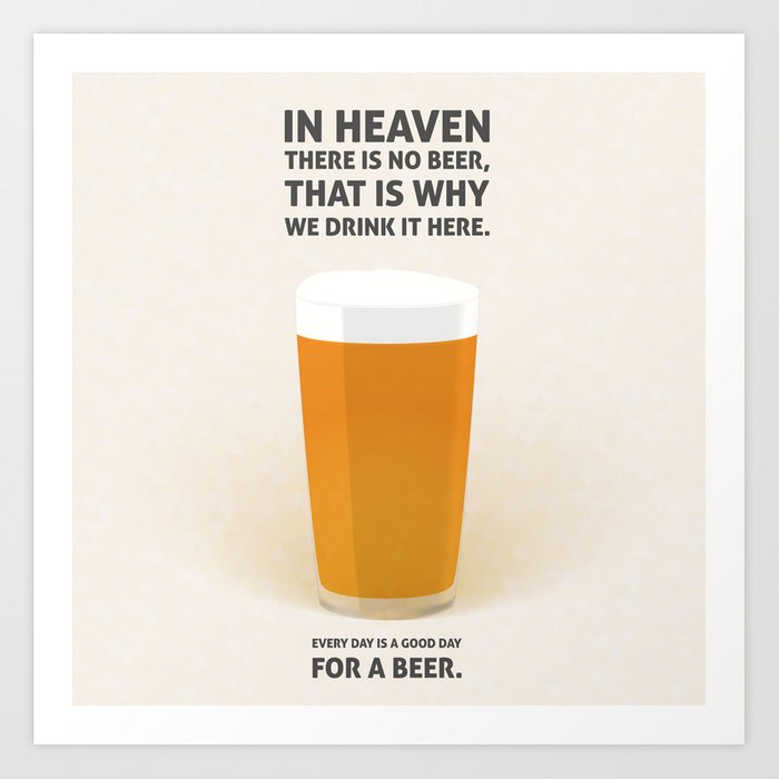 Lager beer illustration quotes Art Print by onionastudio