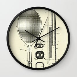 Handle for Tennis Rackets and the Like-1930 Wall Clock