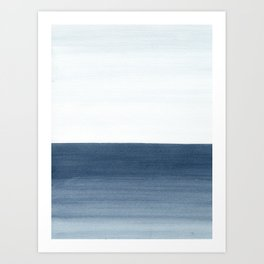 Ocean Watercolor Painting No.1 Art Print