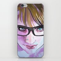 sarah paulson iPhone & iPod Skins featuring Sarah by Marc Scheff