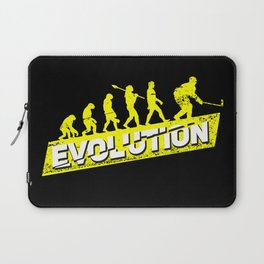 Ice Hockey Player Evolution Sport Trainer Coach Goalie Funny Team Goalkeeper Defender Gift Idea Laptop Sleeve