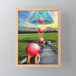 Interspatial Field Framed Mini Art Print