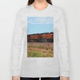 Orange BNSF Engines Long Sleeve T-shirt