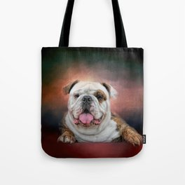 Hanging Out - Bulldog Tote Bag