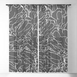 Fifty shades of Love (Dark) Sheer Curtain