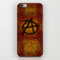 anarchy iPhone & iPod Skins featuring Distressed Anarchy by Bruce Stanfield