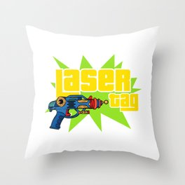 Laser Tag Game Sport Hobby Lazer Gun T-shirt Design Gun Shoot Shooting Shooter Laser Aim Aiming Throw Pillow