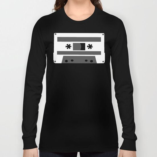 Black and White Tapes 45 Long Sleeve T-shirt
