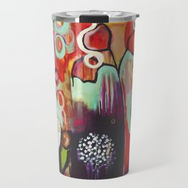 """""""Release Become"""" Original Painting by Flora Bowley Travel Mug"""
