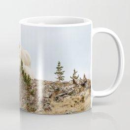Three Ami-Goats // Scenic Hike Animals Photograph Colorado Wildlife National Park Mountain Goats Coffee Mug