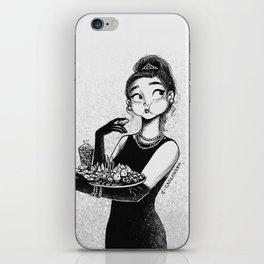 breakfast with Tiffany iPhone Skin