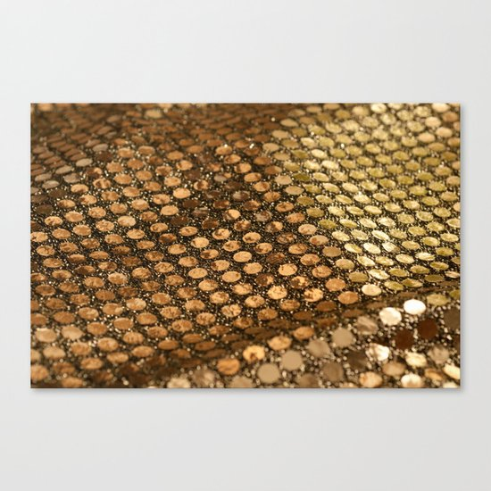 Shiny glitter #2 #gold #decor #art #society6 Canvas Print